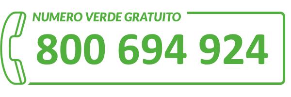 Numero verde: 800 694 924